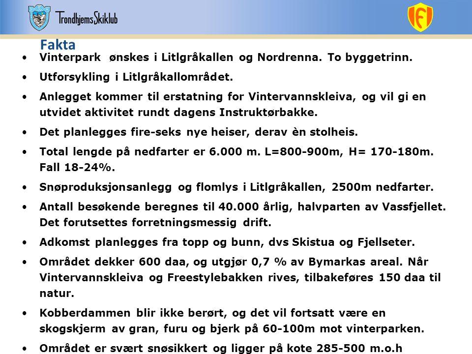 Fakta Vinterpark ønskes i Litlgråkallen og Nordrenna. To byggetrinn.