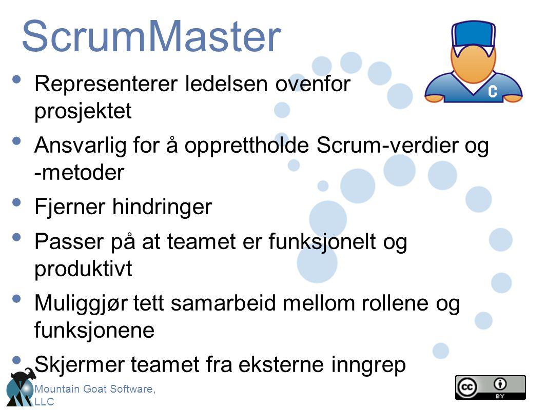 ScrumMaster Representerer ledelsen ovenfor prosjektet