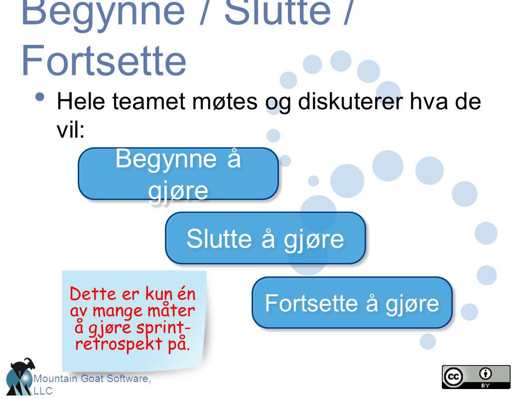 Begynne / Slutte / Fortsette