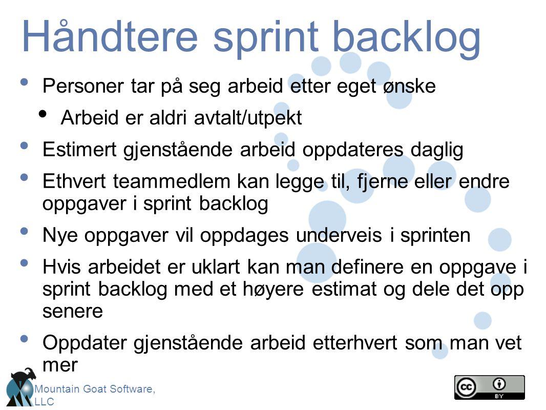 Håndtere sprint backlog