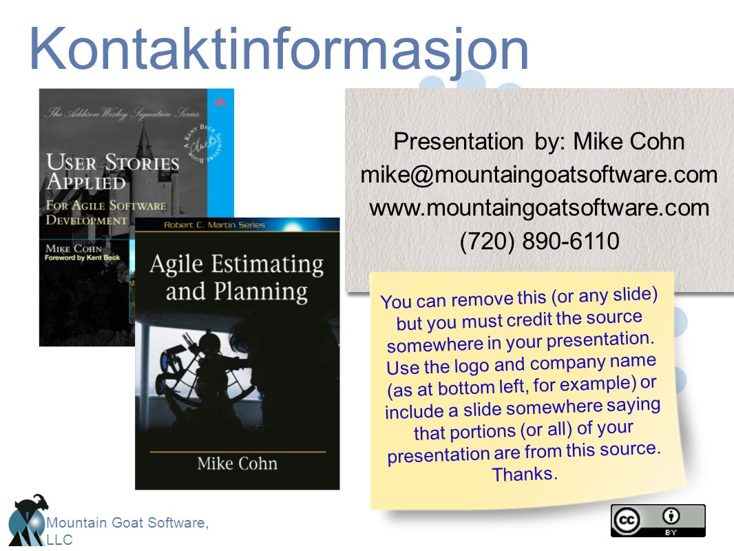 Presentation by: Mike Cohn