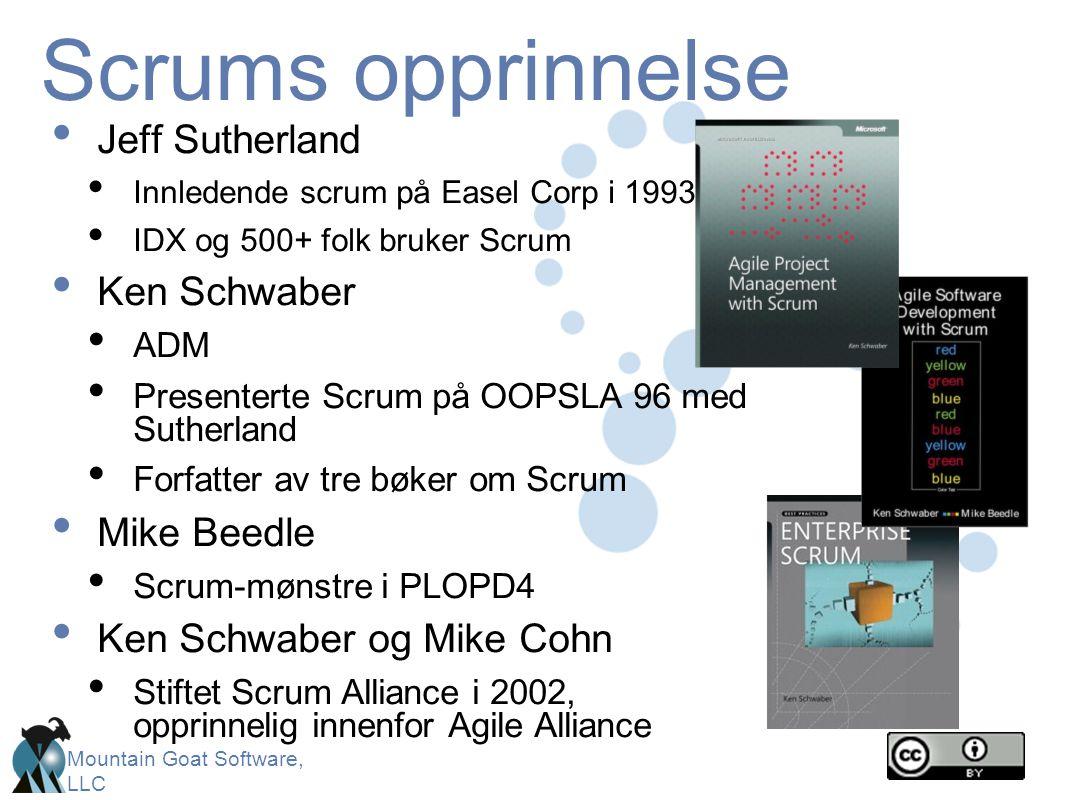 Scrums opprinnelse Jeff Sutherland Ken Schwaber Mike Beedle