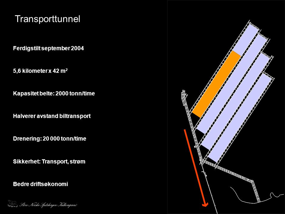 Transporttunnel Ferdigstilt september 2004 5,6 kilometer x 42 m2