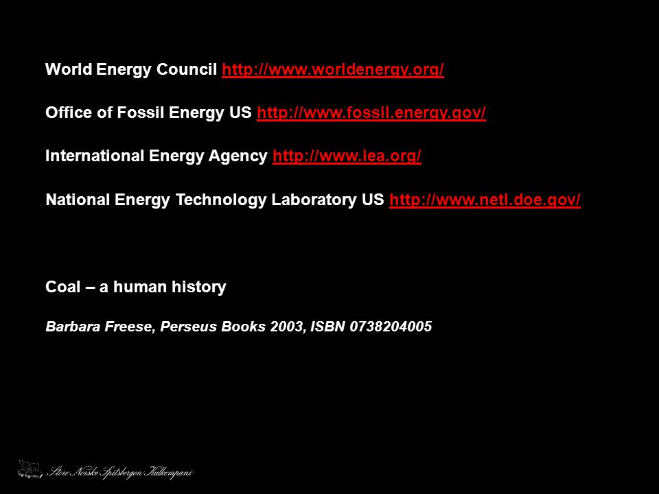 World Energy Council http://www.worldenergy.org/