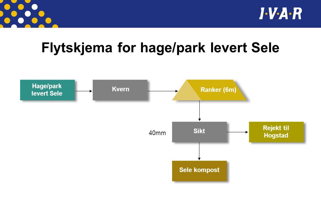 Flytskjema for hage/park levert Sele