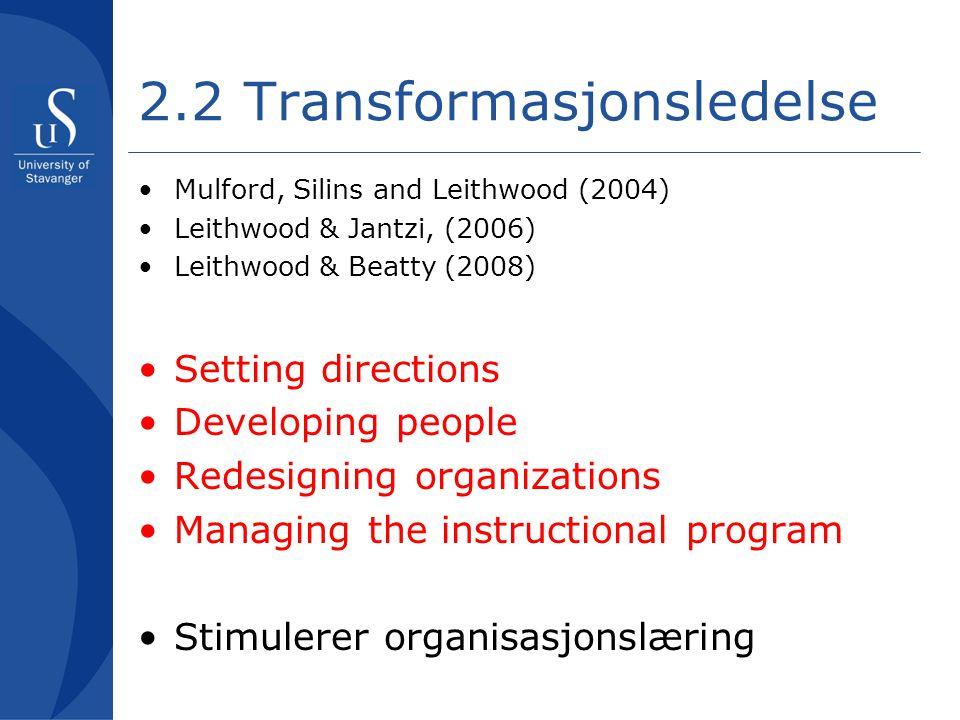 2.2 Transformasjonsledelse