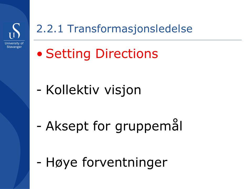 2.2.1 Transformasjonsledelse
