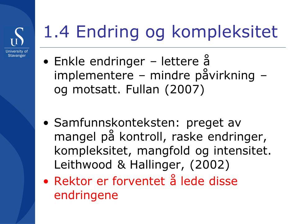 1.4 Endring og kompleksitet