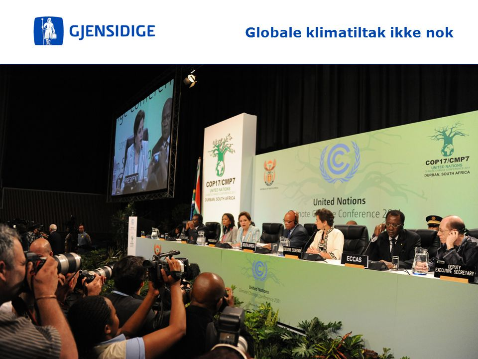 Globale klimatiltak ikke nok