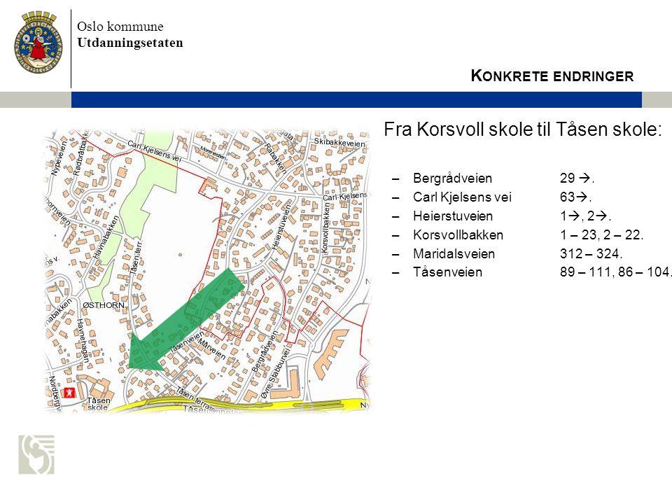 Fra Korsvoll skole til Tåsen skole: