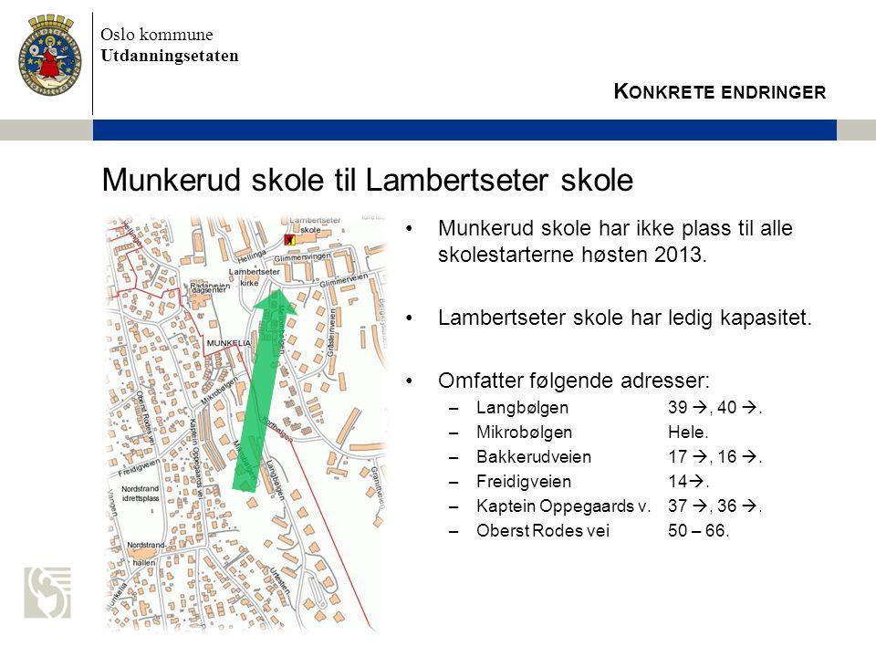 Munkerud skole til Lambertseter skole