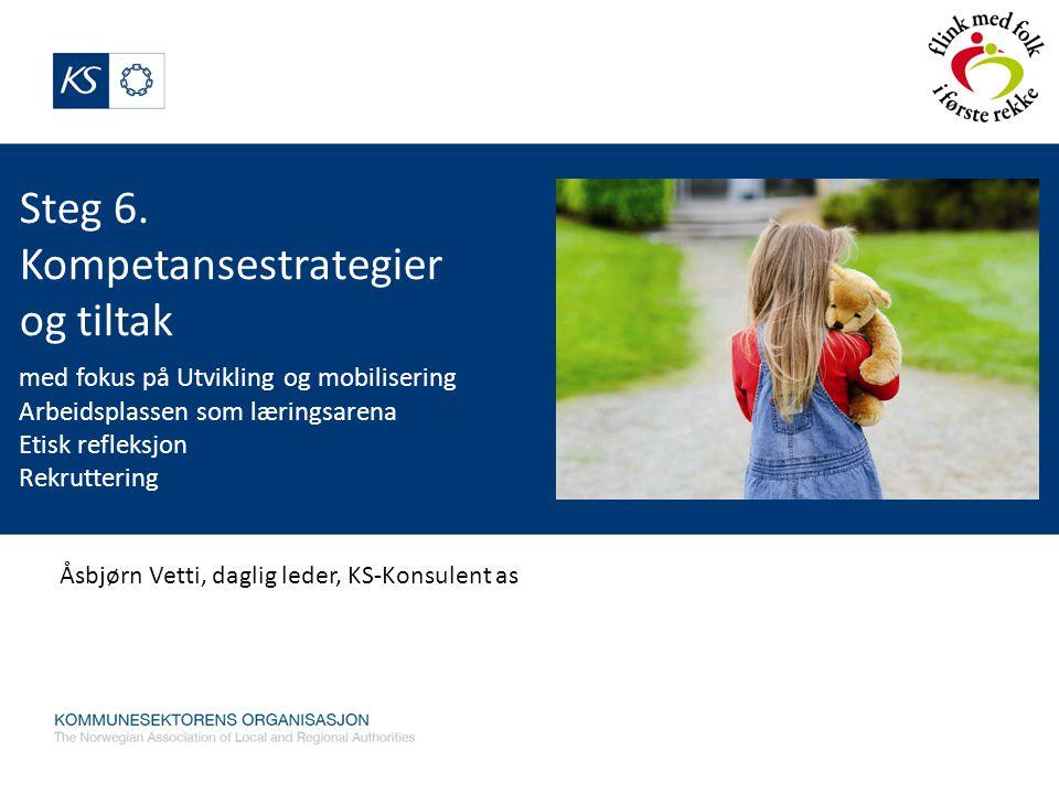 Steg 6. Kompetansestrategier og tiltak