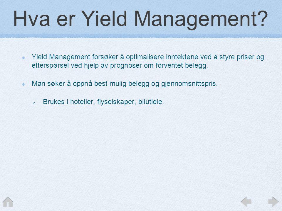 Hva er Yield Management