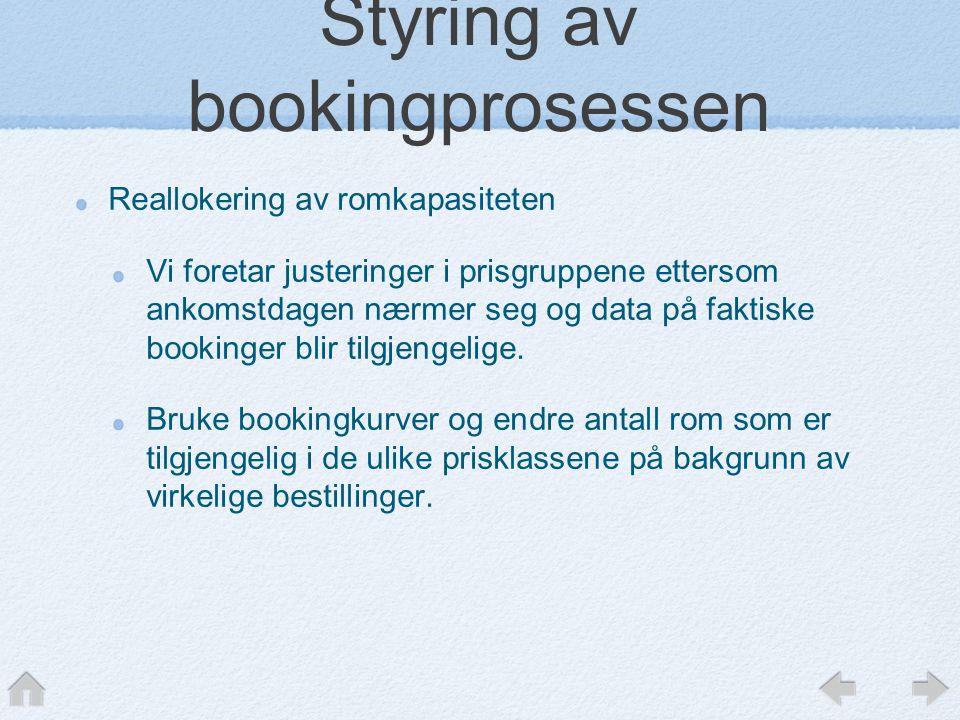 Styring av bookingprosessen