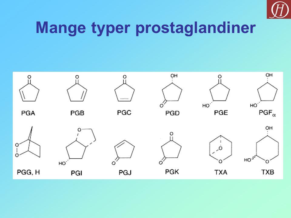 Mange typer prostaglandiner