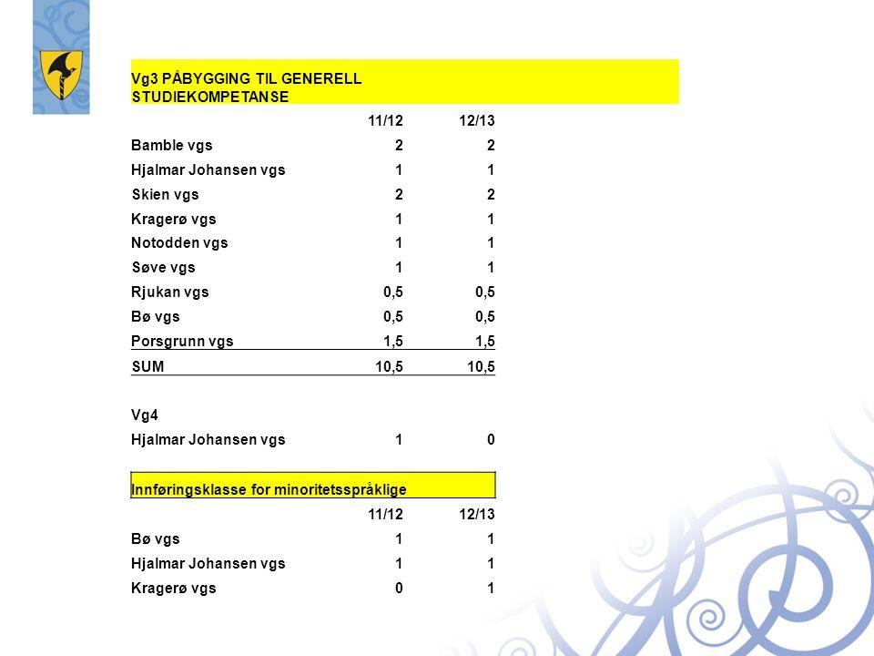 Vg3 PÅBYGGING TIL GENERELL STUDIEKOMPETANSE