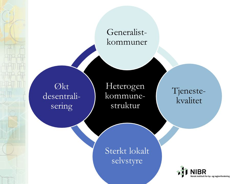 Heterogen kommune-struktur Generalist-kommuner