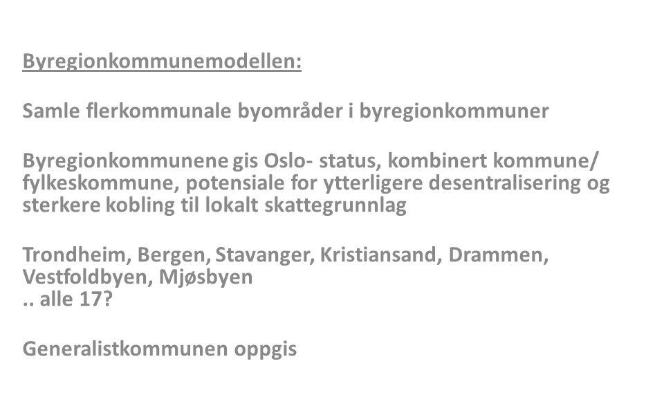 Byregionkommunemodellen: