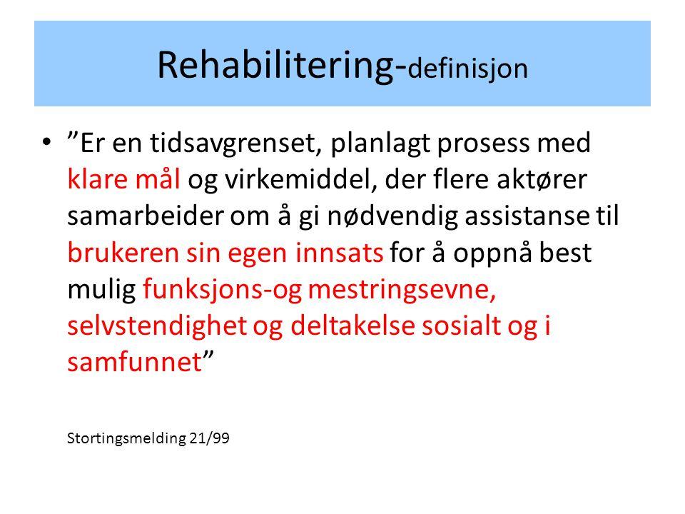 Rehabilitering-definisjon