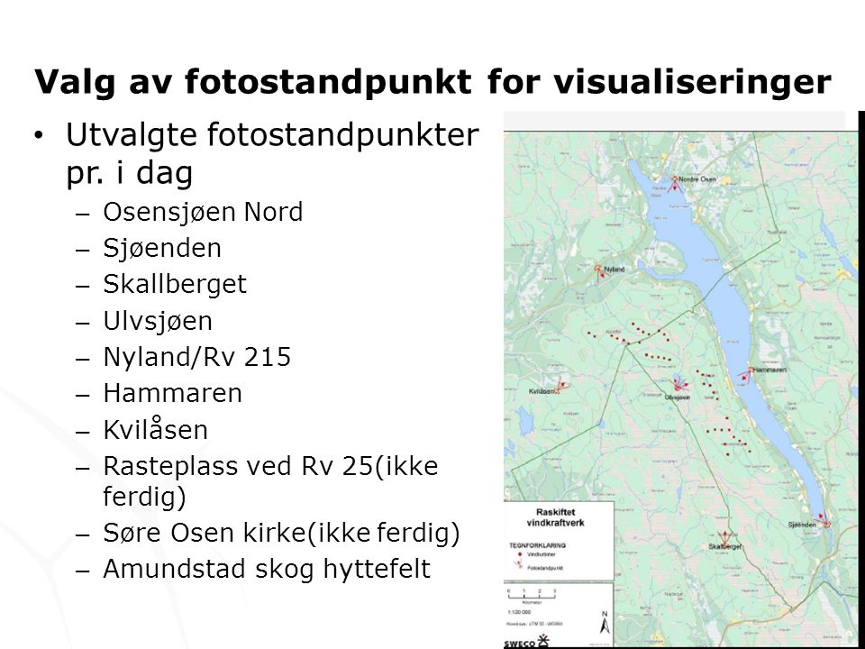 Valg av fotostandpunkt for visualiseringer