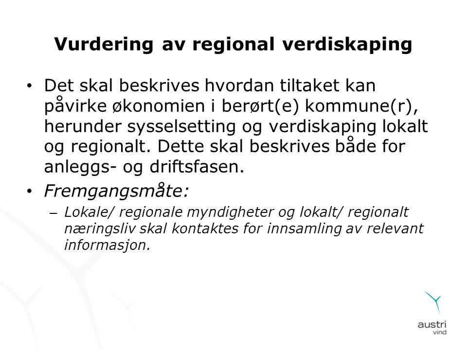 Vurdering av regional verdiskaping