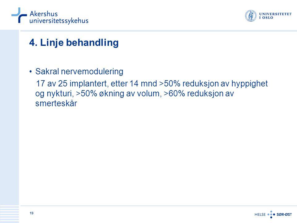 4. Linje behandling Sakral nervemodulering