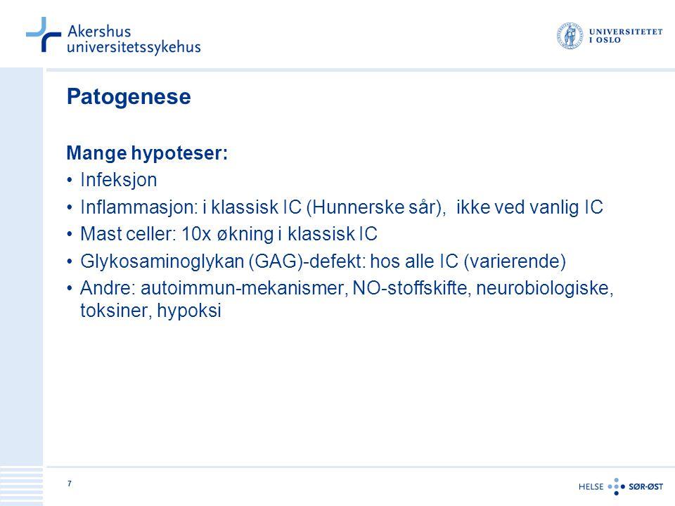 Patogenese Mange hypoteser: Infeksjon