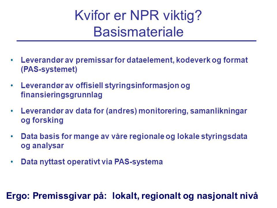 Kvifor er NPR viktig Basismateriale