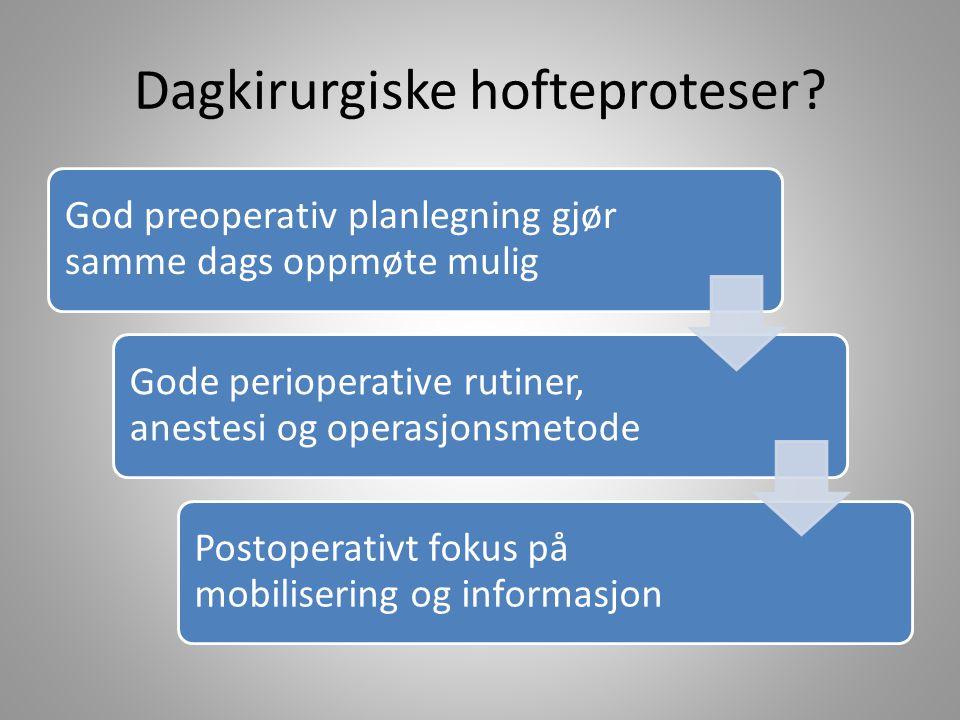 Dagkirurgiske hofteproteser