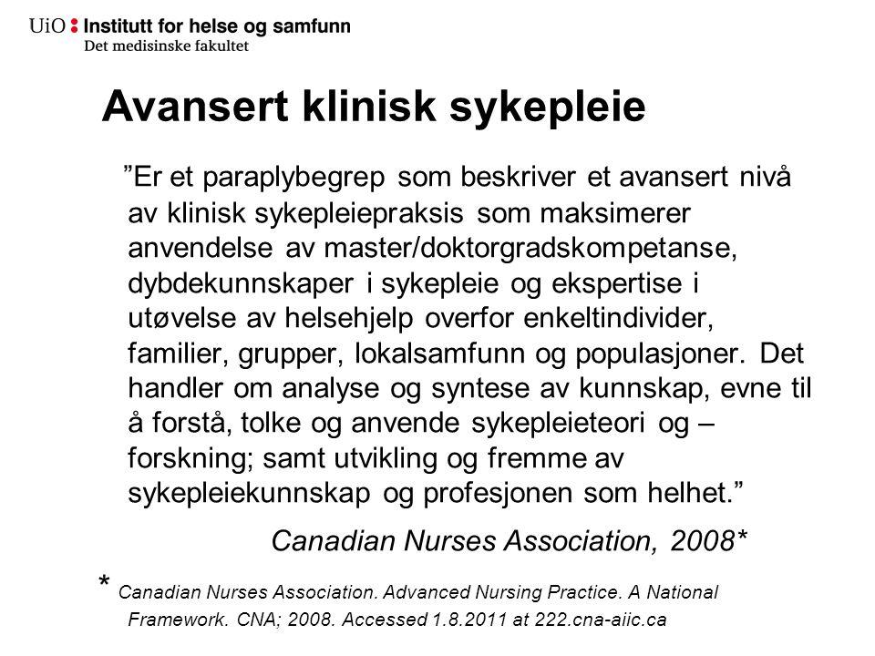 Avansert klinisk sykepleier/NP