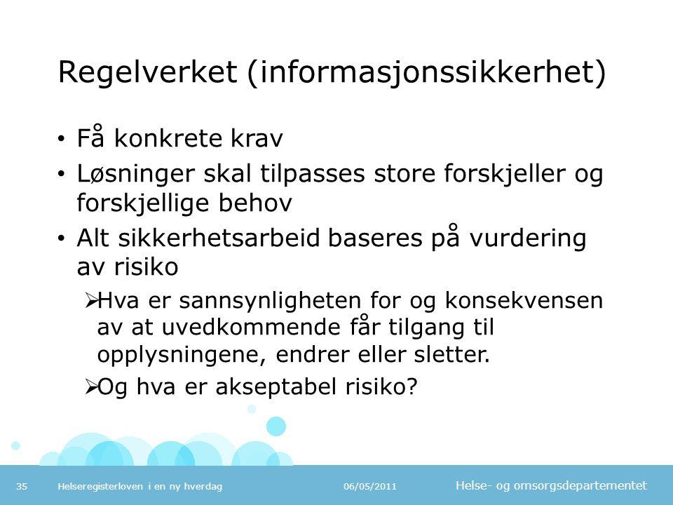 Regelverket (informasjonssikkerhet)
