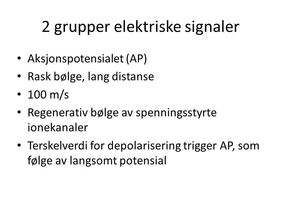 2 grupper elektriske signaler