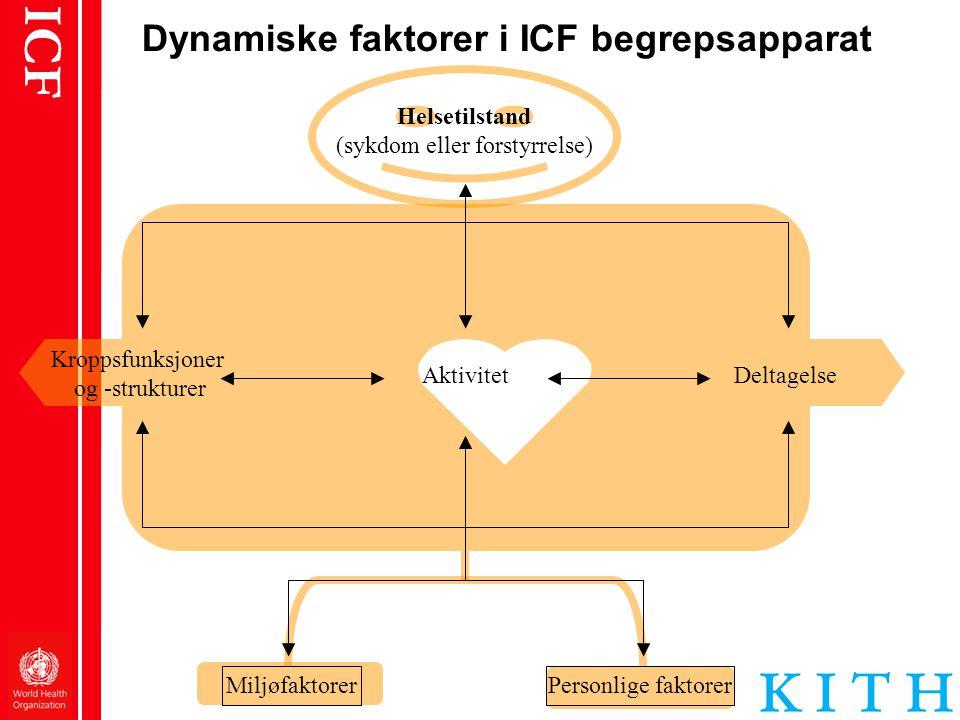 Dynamiske faktorer i ICF begrepsapparat