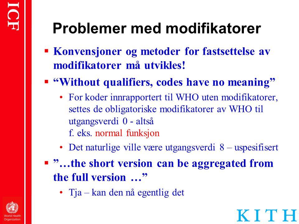 Problemer med modifikatorer