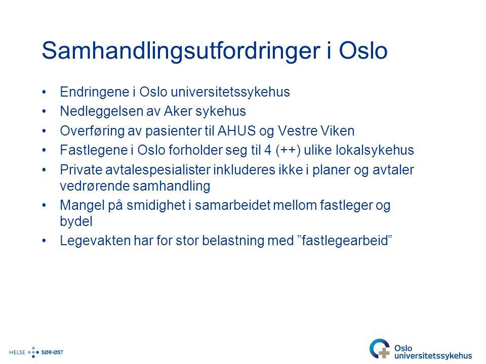 Samhandlingsutfordringer i Oslo