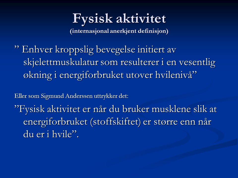 Fysisk aktivitet (internasjonal anerkjent definisjon)