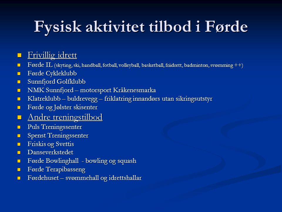 Fysisk aktivitet tilbod i Førde