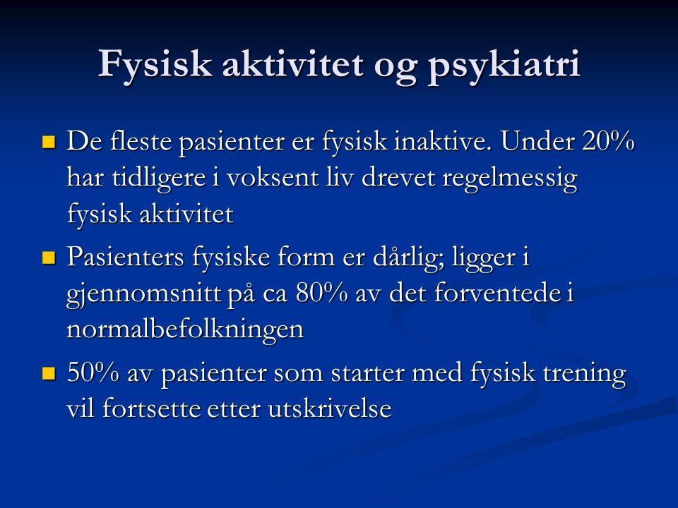 Fysisk aktivitet og psykiatri