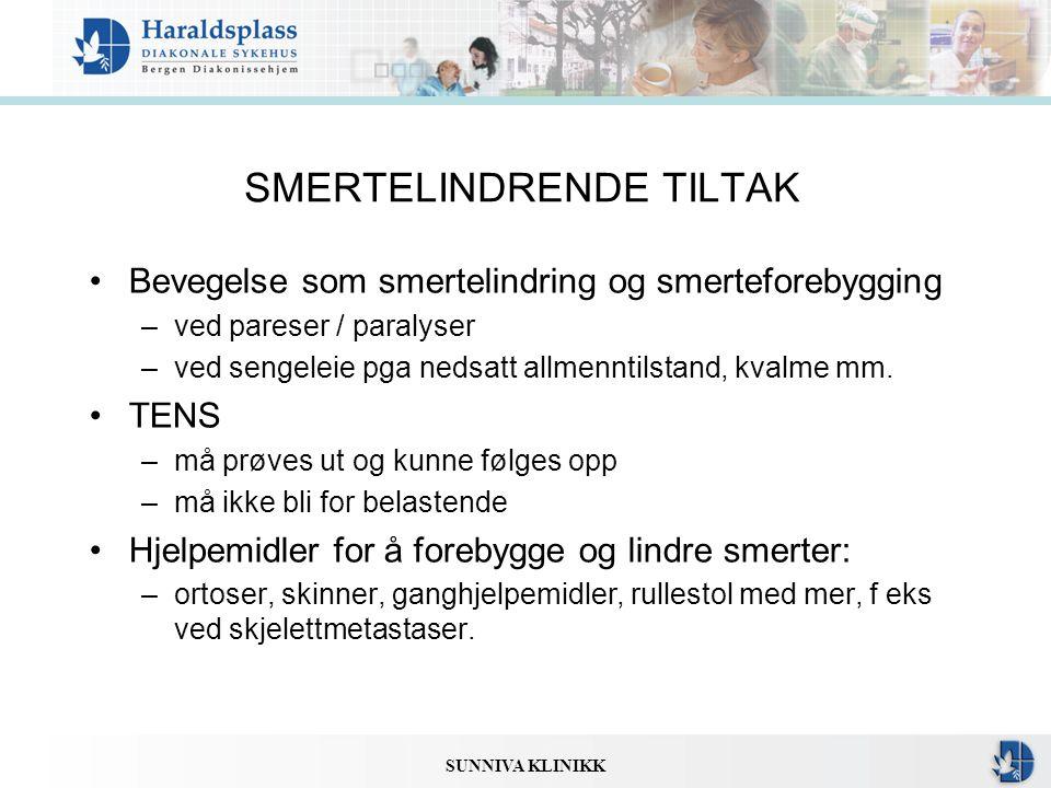 SMERTELINDRENDE TILTAK