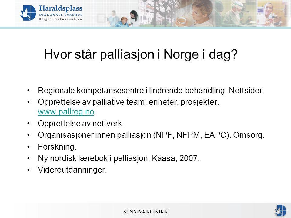 Hvor står palliasjon i Norge i dag