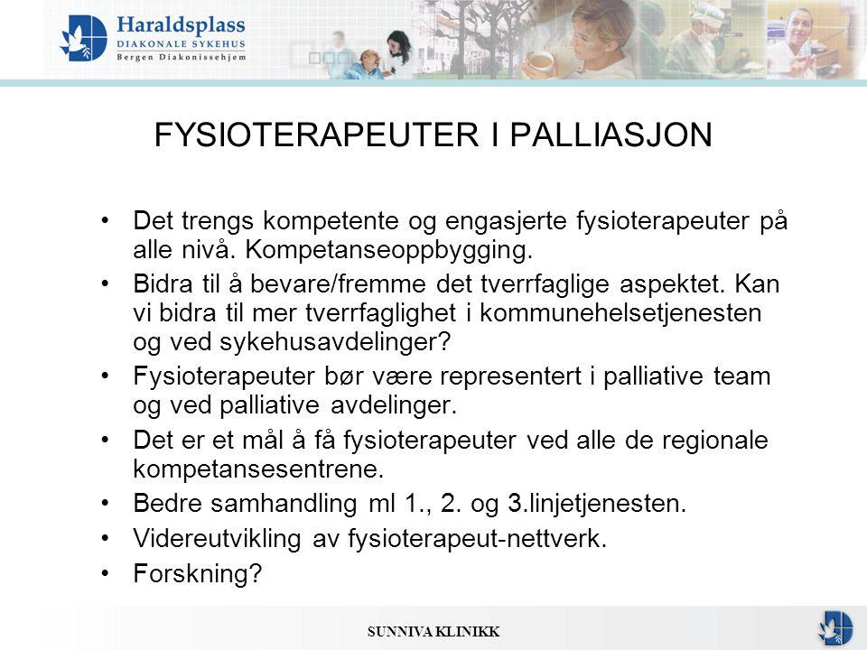 FYSIOTERAPEUTER I PALLIASJON