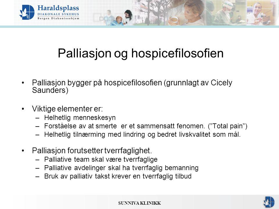 Palliasjon og hospicefilosofien