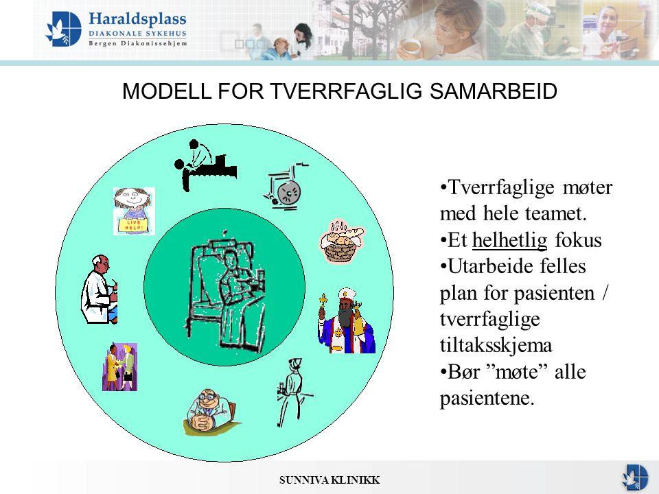 MODELL FOR TVERRFAGLIG SAMARBEID