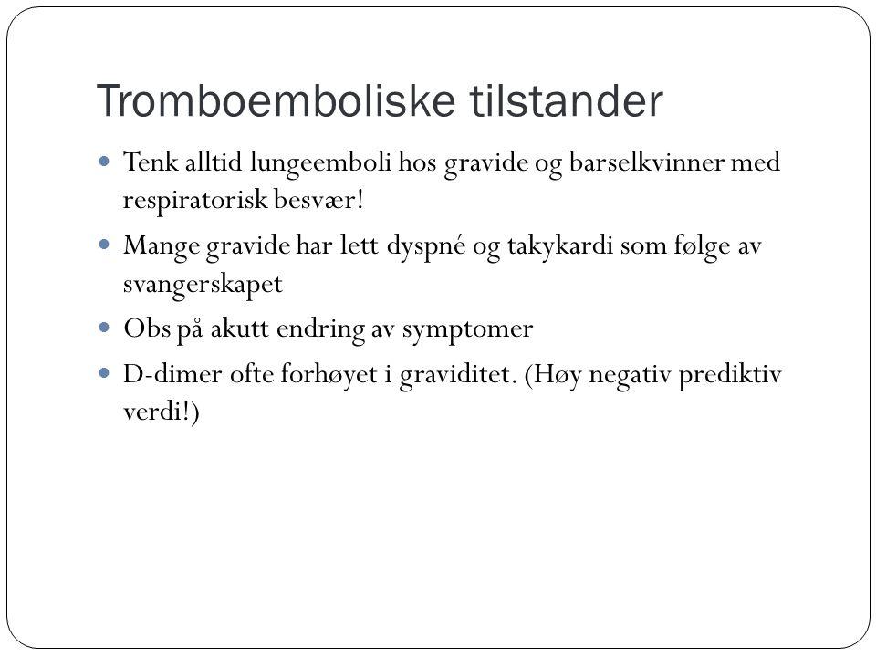 Tromboemboliske tilstander