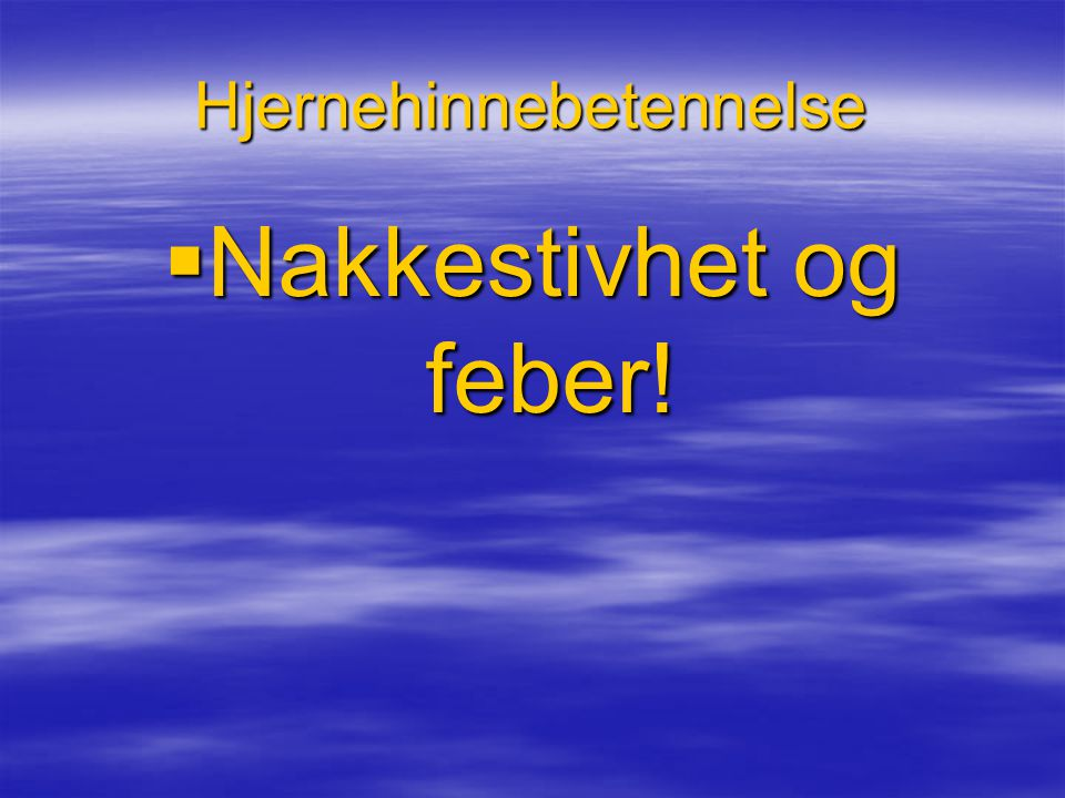 Hjernehinnebetennelse