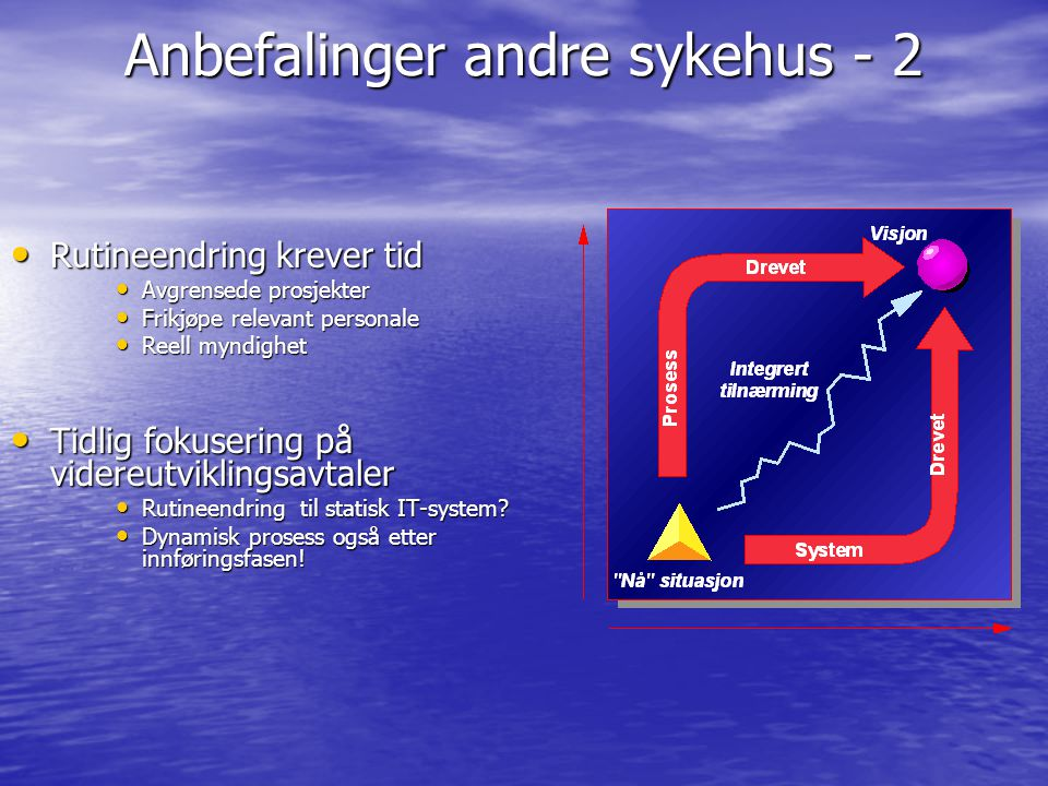 Anbefalinger andre sykehus - 2