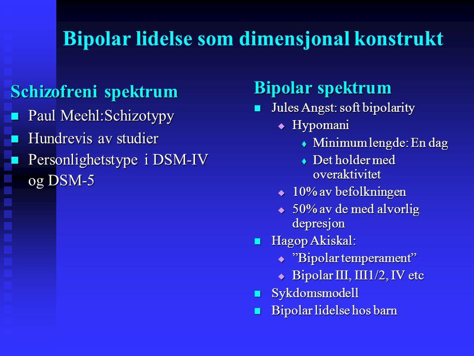 Bipolar lidelse som dimensjonal konstrukt