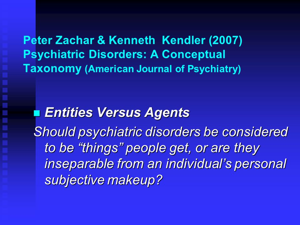 Entities Versus Agents