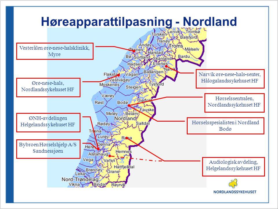 Høreapparattilpasning - Nordland