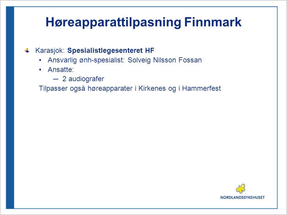 Høreapparattilpasning Finnmark